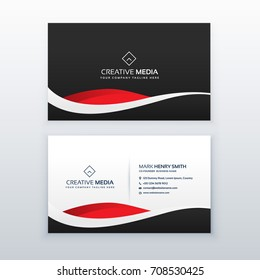 creative dark business card vector design