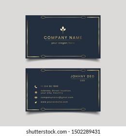 creative dark modern clean business card design template