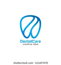 Creative Dental Care Concept Logo Design Template