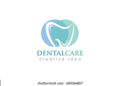Creative Dental Concept Logo Design Template