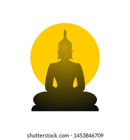 Creative design of buddha symbol