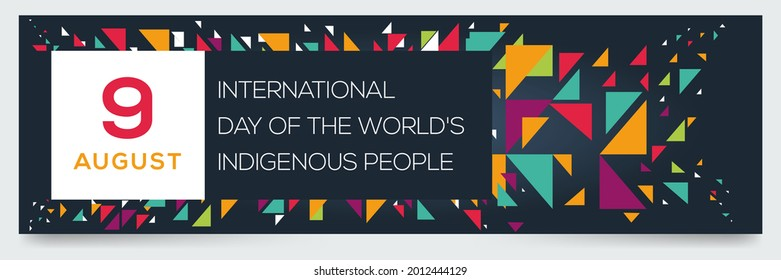 Creative design for (International Day of the World's Indigenous People), 9 August, Vector illustration.