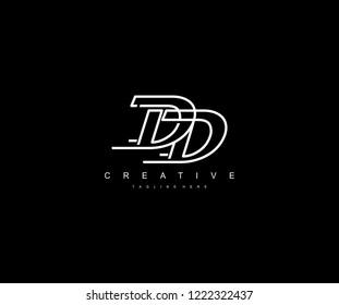 Creative Design Letter DD Linked Vector Monogram Logo Illustration