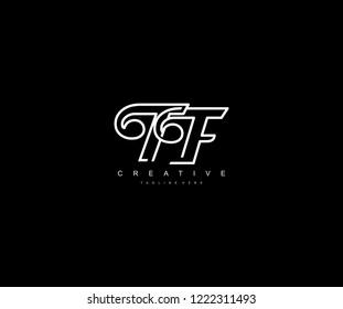 Creative Design Letter TF Linked Vector Monogram Logo Illustration
