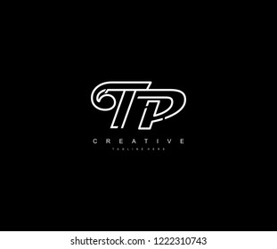 Creative Design Letter TP Linked Vector Monogram Logo Illustration