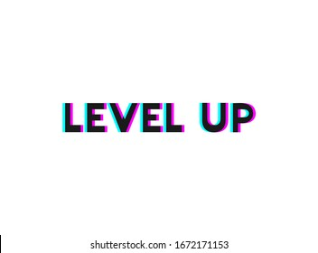 Creative design of level up message