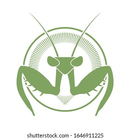Creative design of mantis icon