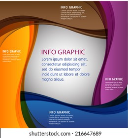 creative design modern template for website graphic internet and business, text box,