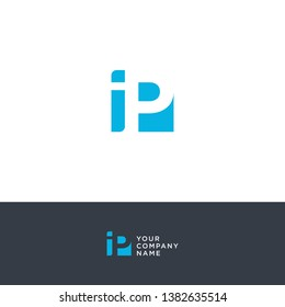 creative design of negative IP space logos for financial companies