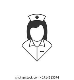 Creative design of nurse symbol