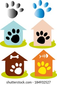 Creative design of paw. Fully editable vector.