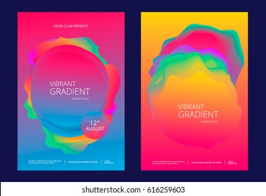 Creative design poster with vibrant gradients. Colorful bright backgrounds.