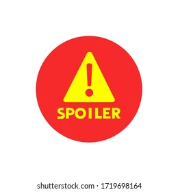 Creative design of spoiler alert advise