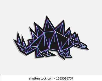 creative design of stegosaurus illustration
