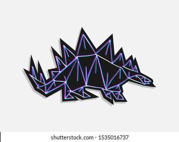 creative design of stegosaurus illustration