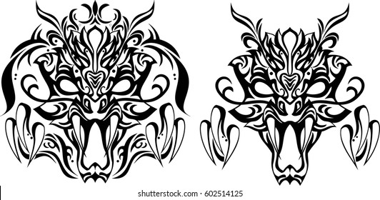 Creative design for tattoo, background or decoration. Can be used as tattoo design or t-shirt screen.