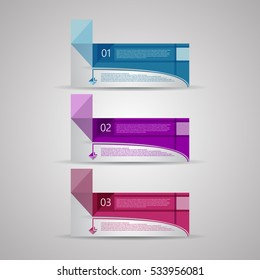 Creative design template, numbered banners, EPS10 Vector Illustration.