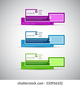 Creative design template, numbered banners for news and advertising, EPS10 Vector Illustration.