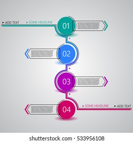 Creative design template, numbered steps for tutorial, EPS10 Vector Illustration.