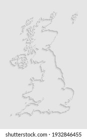 Creative detailed vector map country The United Kingdom isolated on background. The Great Britain template, report, infographic, backdrop. Europe England nation pattern or silhouette sign concept