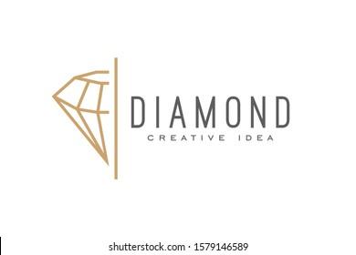 Creative Diamond Logo and Icon Design Template