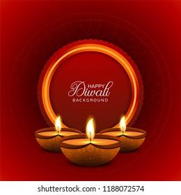Creative Diwali Festival Decorative Template Background