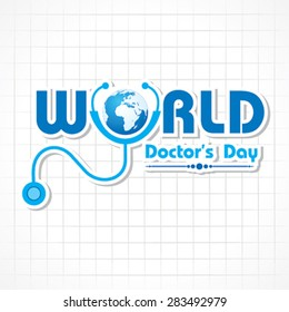 Creative Doctors Day Greeting stock vector
