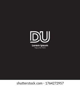 Creative DU letter logo design.