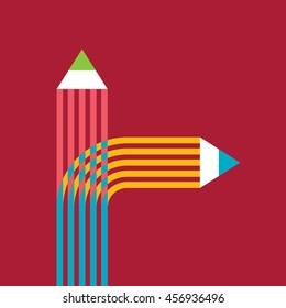 creative education concept vector