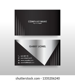 Creative and elegant double sided business card template. Simple and clean design. Creative corporate identity .