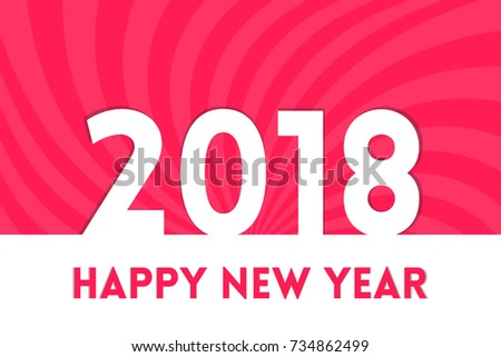 creative and elegant happy new year greetings for the year 2018 with swirl backdrop can