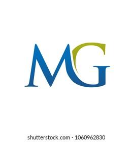 creative elegant letter MG logo concept