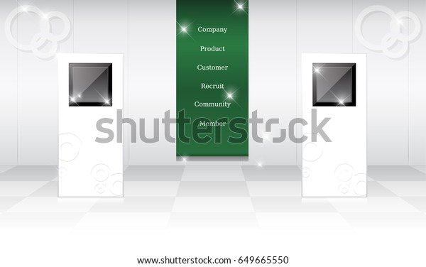 Creative Booth Exhibition : Creative exhibition stand design booth template stock vector