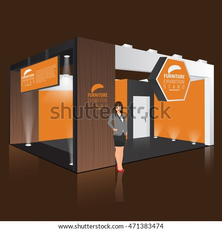 Exhibition Stand Design Mockup Free : Placeit banner mockup in an exhibition stand at a convention center