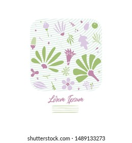 creative fashionable greeting card design template with floral elements