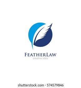 Creative Feather Concept Logo Design Template