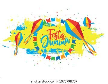 Creative Festa Junina Festival Background Vector Illustration