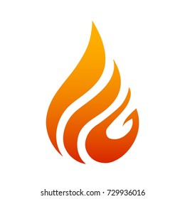 Creative fire logo with tongues of flame. Icon illustration for design - vector