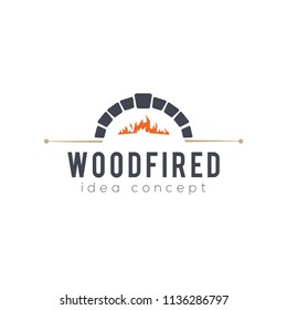 Creative Firewood Oven and Woodfired Concept Logo Design Template