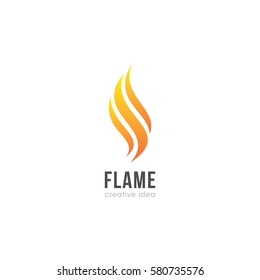 Creative Flame Concept Logo Design Template