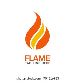 creative flame logo template