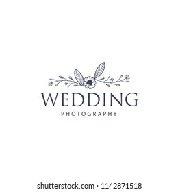 Creative Floral Concept Logo Template, Wedding Photography