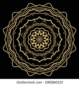 Creative floral mandala, decorative ornament. design for print fabric, tatto. vector.