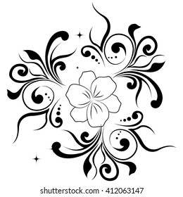 creative floral pattern illustration in a white background.