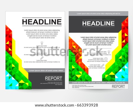 creative flyer poster banner pamphlet abstract design layout for business with red