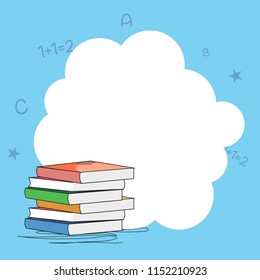creative frame abstract background with books for Happy Teacher's Day.