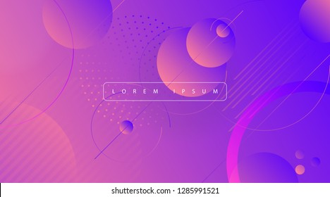 Creative Geometric background. Abstract flat lines, vector gradients, pattern and halftones.