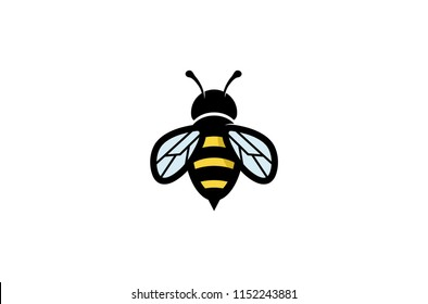 Creative Geometric Bee Logo Symbol Vector Design Illustration