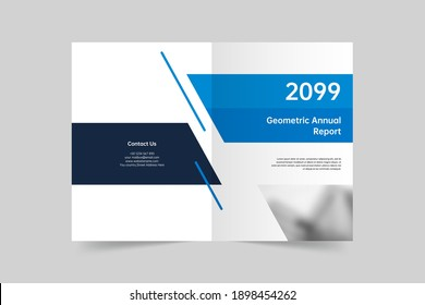 Creative geometric brochure cover template