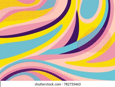 Creative geometric colorful background with patterns. Collage. Design for prints, posters, cards, etc. Vector.